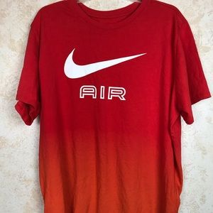 Nike T-shirt Red and Orange ambre size XL